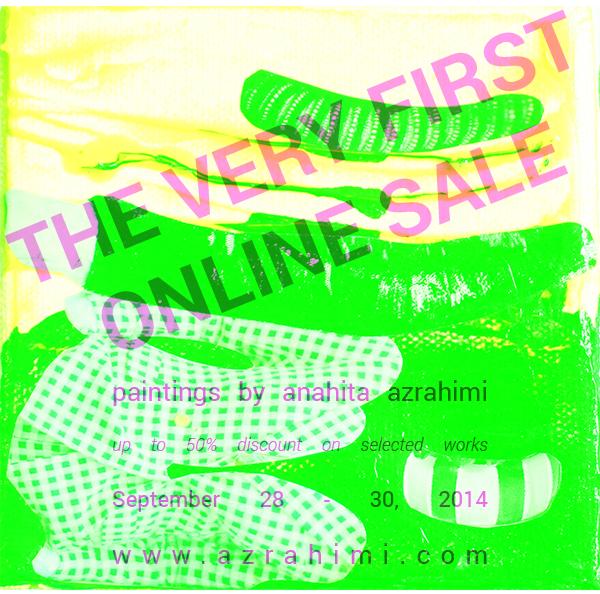 Online Art Sale flyer